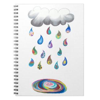Whimsy Rain Noebook Notebook