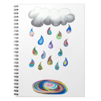 Whimsy Rain Noebook Spiral Notebook