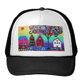 Whimsy Town By Prisarts Trucker Hats