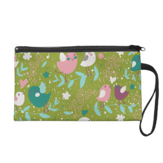 Whimsy Tweety Birds on Vines Wristlets