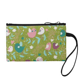 Whimsy Tweety Birds on Vines Change Purse