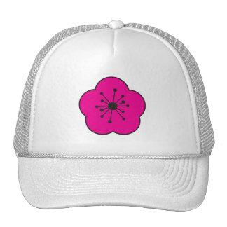 WhimsyMoger Pink Flower cap