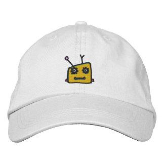 WhimsyMoner Orange Robot Customizable Cap Embroidered Hats