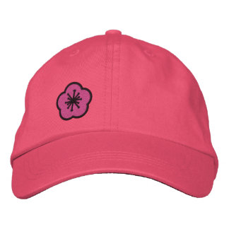 WhimsyMonger Pink Daisy Customizable embroidered Embroidered Hat
