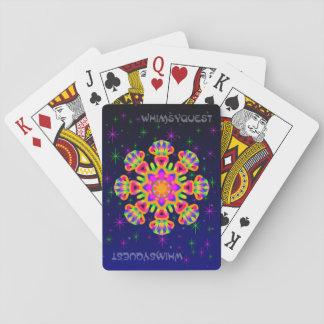 WhimsyQuest Kaleidoscope Playing Cards Orange 1