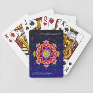 WhimsyQuest Kaleidoscope Playing Cards Orange 2