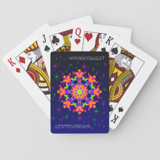 WhimsyQuest Kaleidoscope Playing Cards Pink no 2