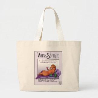 Whine and Spirits - Dacchus Large Tote Bag