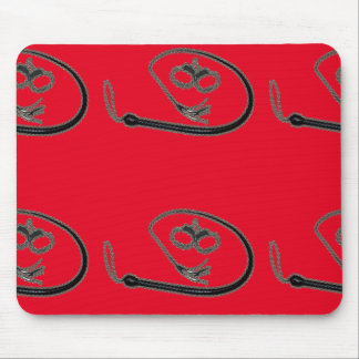 WHIP AND CUFFS MOUSE PAD