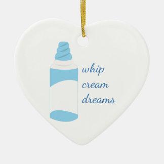 Whip Cream Dreams Ceramic Heart Decoration