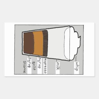 Whip Milk Espresso Syrup Guilt Rectangular Sticker