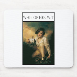 WHIP OF HER WIT -Child with rabbit Mouse Pad