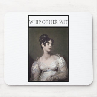 WHIP OF HER WIT MOUSEPAD