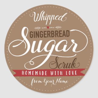 Whipped Gingerbread Scrub Labels Custom Mason Jar