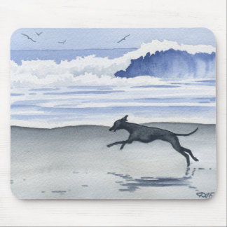 Whippet At The Beach Mouse Mat