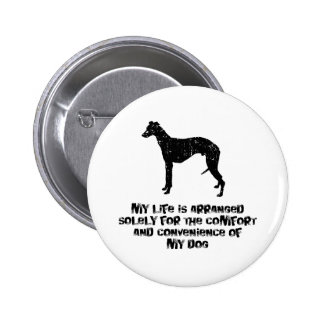 Whippet 6 Cm Round Badge