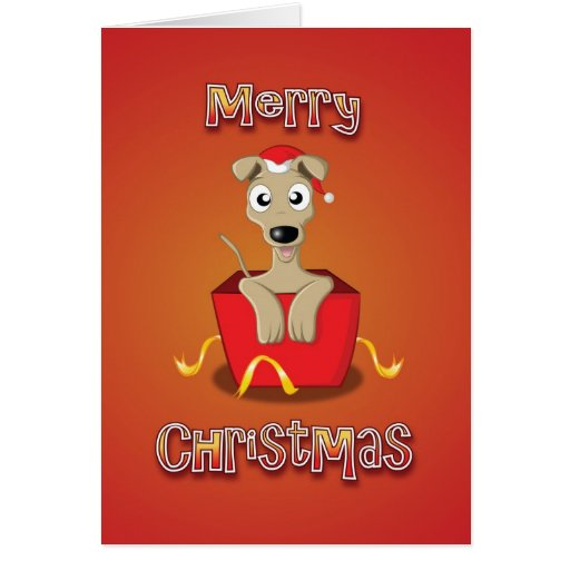 whippet - box - merry christmas greeting cards
