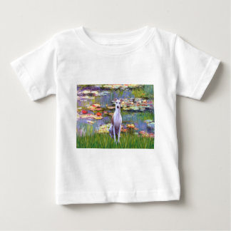 Whippet (brown-white) - Lilies 2 Baby T-Shirt