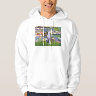 Whippet (brown-white) - Lilies 2 Hoodie