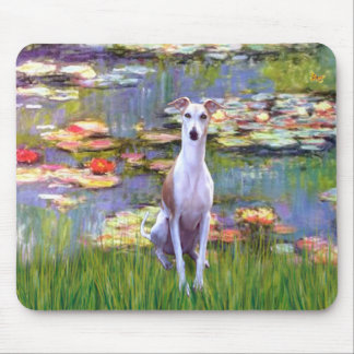 Whippet (brown-white) - Lilies 2 Mouse Pad