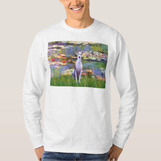 Whippet (brown-white) - Lilies 2 Shirt