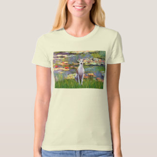 Whippet (brown-white) - Lilies 2 Shirts