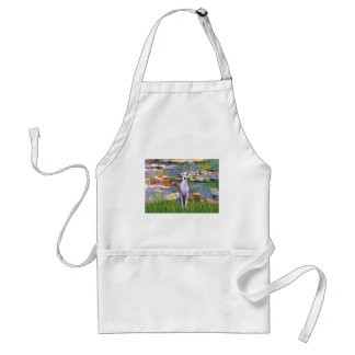 Whippet (brown-white) - Lilies 2 Standard Apron