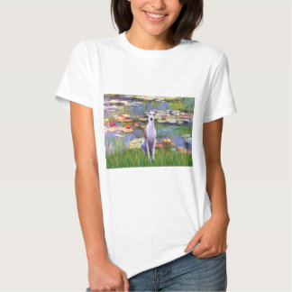 Whippet (brown-white) - Lilies 2 T Shirt
