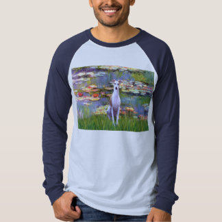 Whippet (brown-white) - Lilies 2 T-Shirt