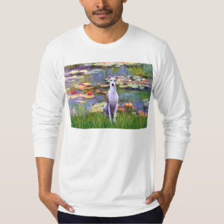 Whippet (brown-white) - Lilies 2 Tee Shirts