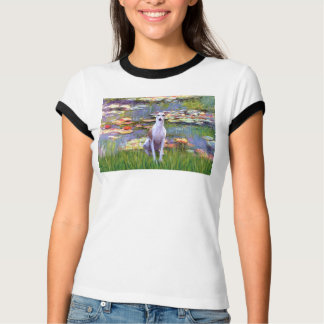Whippet (brown-white) - Lilies 2 Tees