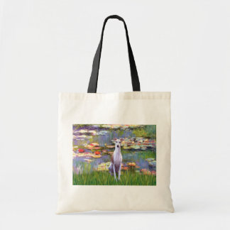 Whippet (brown-white) - Lilies 2 Budget Tote Bag