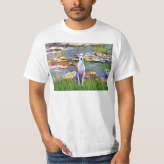 Whippet (brown-white) - Lilies 2 Tshirt