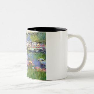 Whippet (brown-white) - Lilies 2 Two-Tone Mug