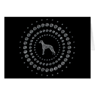 Whippet Chrome Studs Greeting Cards