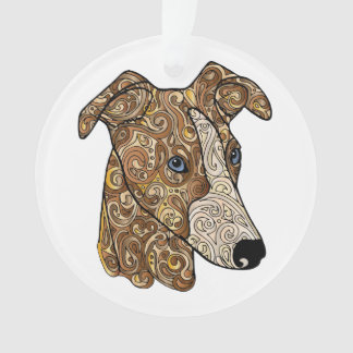 Whippet Circle Ornament