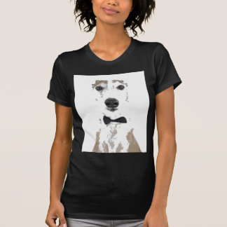 whippet cut out design in bow tie T-Shirt