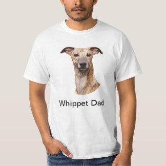 Whippet dad beautiful photo custom mens t-shirt