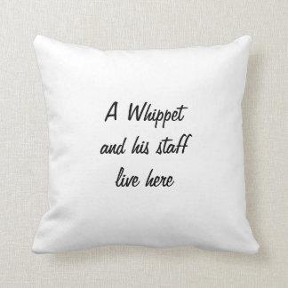 Whippet dog beautiful photo cushion pillow