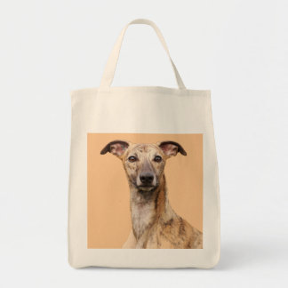 Whippet dog beautiful photo grocery tote bag, gift grocery tote bag