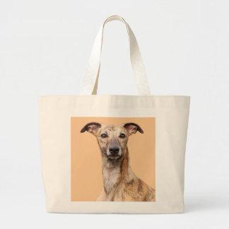 Whippet dog beautiful photo tote bag, gift