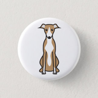 Whippet Dog Cartoon 3 Cm Round Badge