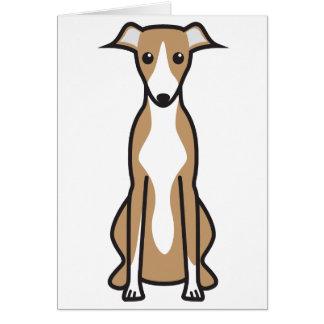 Whippet Dog Cartoon Card