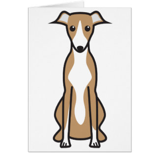 Whippet Dog Cartoon Greeting Card