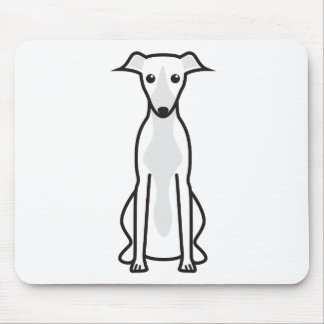 Whippet Dog Cartoon Mouse Pad