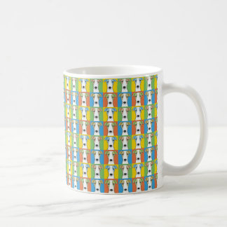 Whippet Dog Cartoon Pop-Art Coffee Mug