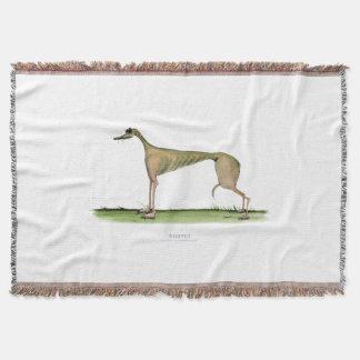 whippet dog, tony fernandes throw blanket