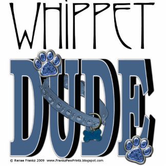 Whippet DUDE Standing Photo Sculpture