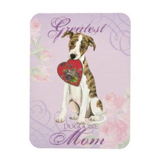 Whippet Heart Mom Rectangular Photo Magnet