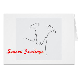 Whippet Holiday, Christmas Greeting Card